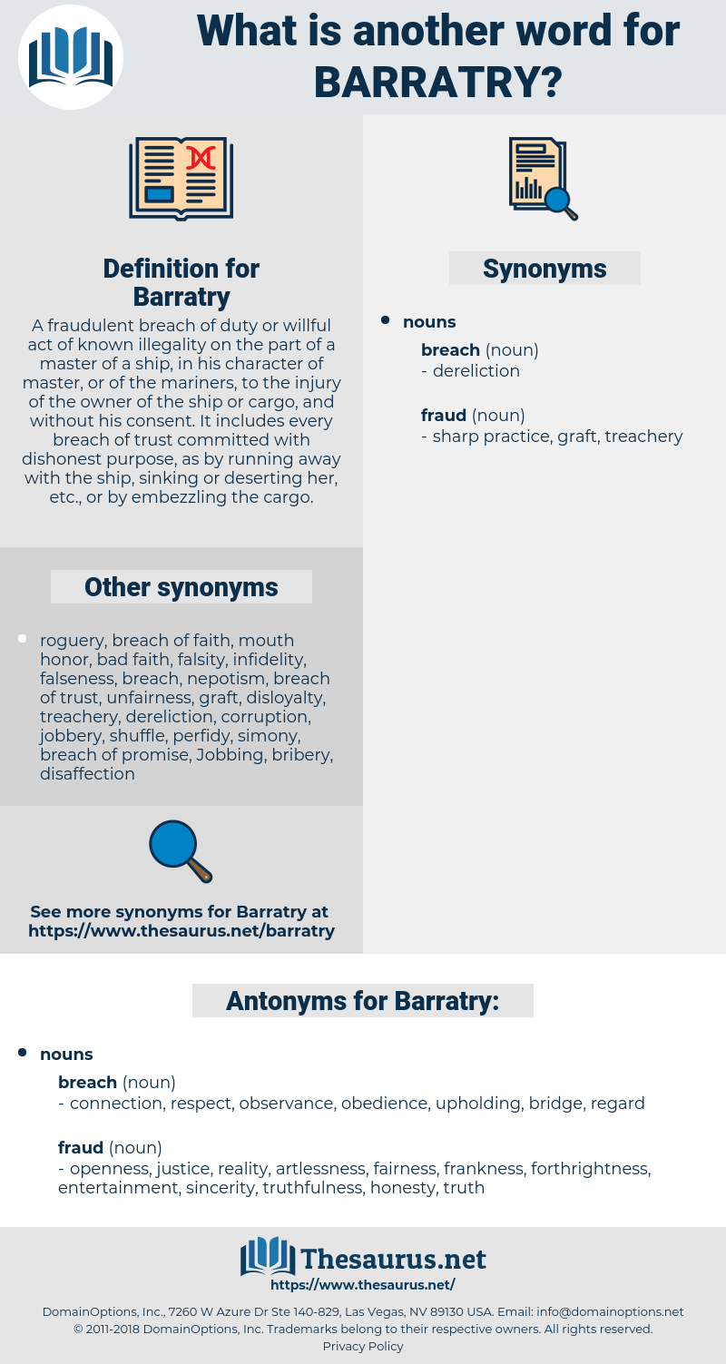 Barratry, synonym Barratry, another word for Barratry, words like Barratry, thesaurus Barratry
