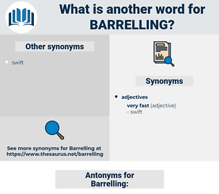 Barrelling, synonym Barrelling, another word for Barrelling, words like Barrelling, thesaurus Barrelling