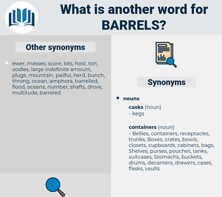 barrels, synonym barrels, another word for barrels, words like barrels, thesaurus barrels