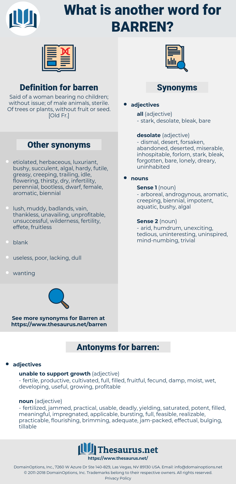 barren, synonym barren, another word for barren, words like barren, thesaurus barren