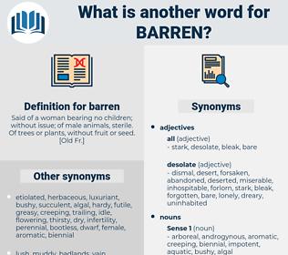 barren, synonym barren, another word for barren, words like barren, thesaurus barren