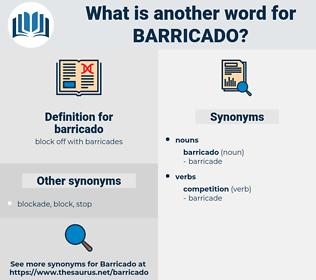barricado, synonym barricado, another word for barricado, words like barricado, thesaurus barricado