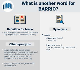 barrio, synonym barrio, another word for barrio, words like barrio, thesaurus barrio