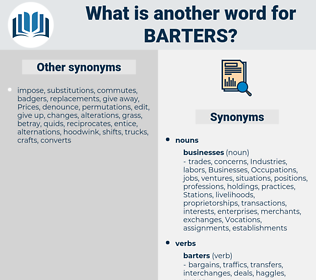 barters, synonym barters, another word for barters, words like barters, thesaurus barters