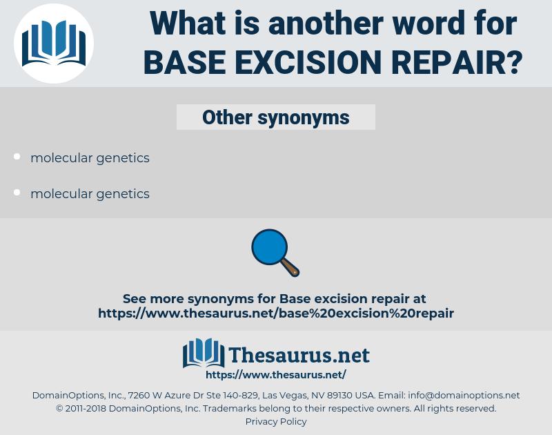 base excision repair, synonym base excision repair, another word for base excision repair, words like base excision repair, thesaurus base excision repair