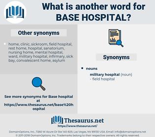 base hospital, synonym base hospital, another word for base hospital, words like base hospital, thesaurus base hospital
