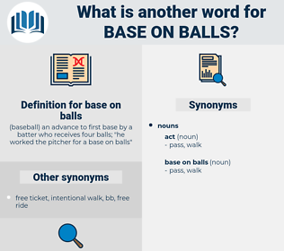 base on balls, synonym base on balls, another word for base on balls, words like base on balls, thesaurus base on balls