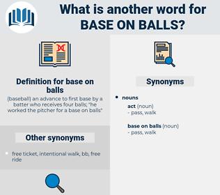 base on balls, synonym base on balls, another word for base on balls, words like base on balls, thesaurus base on balls