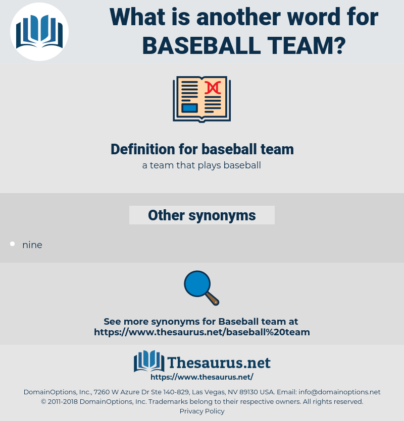 baseball team, synonym baseball team, another word for baseball team, words like baseball team, thesaurus baseball team