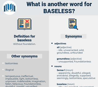 baseless, synonym baseless, another word for baseless, words like baseless, thesaurus baseless