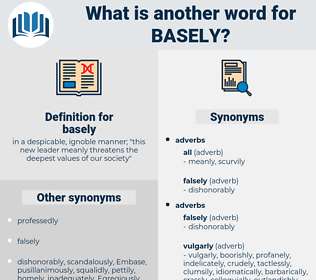 basely, synonym basely, another word for basely, words like basely, thesaurus basely