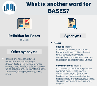 Bases, synonym Bases, another word for Bases, words like Bases, thesaurus Bases