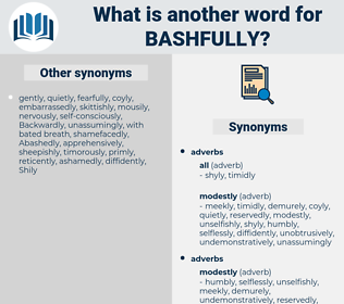 bashfully, synonym bashfully, another word for bashfully, words like bashfully, thesaurus bashfully