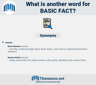 basic fact, synonym basic fact, another word for basic fact, words like basic fact, thesaurus basic fact