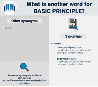basic principle, synonym basic principle, another word for basic principle, words like basic principle, thesaurus basic principle