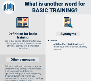 basic training, synonym basic training, another word for basic training, words like basic training, thesaurus basic training