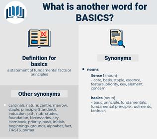 basics, synonym basics, another word for basics, words like basics, thesaurus basics