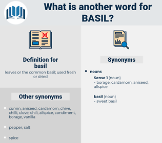 basil, synonym basil, another word for basil, words like basil, thesaurus basil