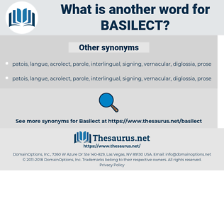 basilect, synonym basilect, another word for basilect, words like basilect, thesaurus basilect