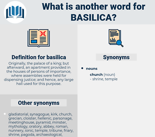 basilica, synonym basilica, another word for basilica, words like basilica, thesaurus basilica