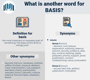 basis, synonym basis, another word for basis, words like basis, thesaurus basis