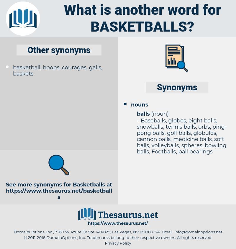 Basketballs, synonym Basketballs, another word for Basketballs, words like Basketballs, thesaurus Basketballs