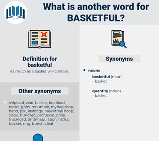 basketful, synonym basketful, another word for basketful, words like basketful, thesaurus basketful