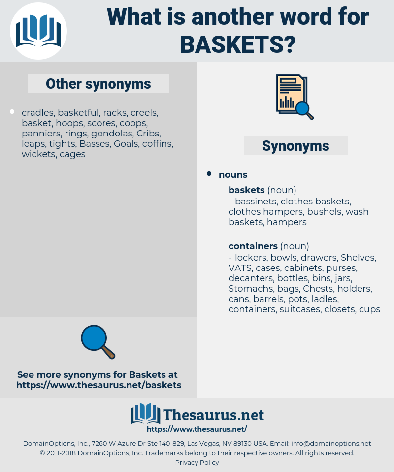 baskets, synonym baskets, another word for baskets, words like baskets, thesaurus baskets