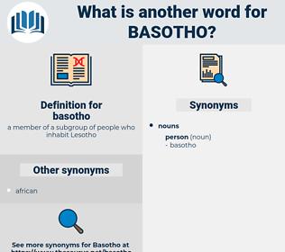 basotho, synonym basotho, another word for basotho, words like basotho, thesaurus basotho
