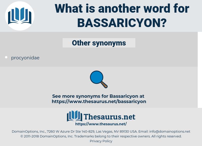bassaricyon, synonym bassaricyon, another word for bassaricyon, words like bassaricyon, thesaurus bassaricyon
