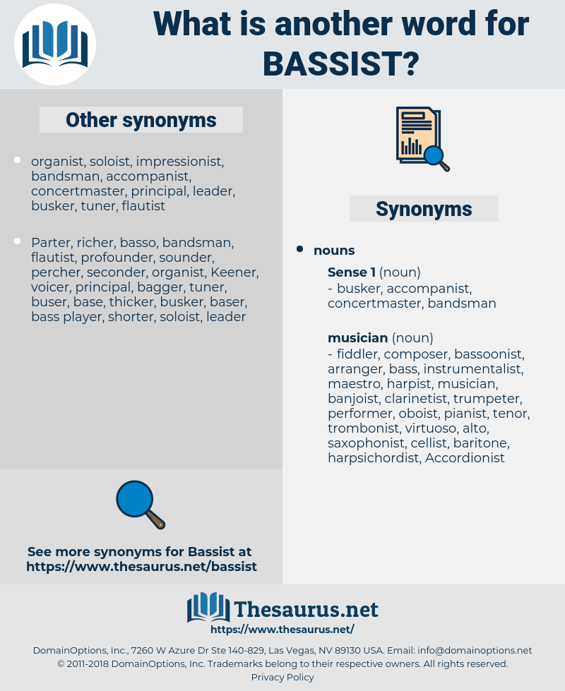 bassist, synonym bassist, another word for bassist, words like bassist, thesaurus bassist