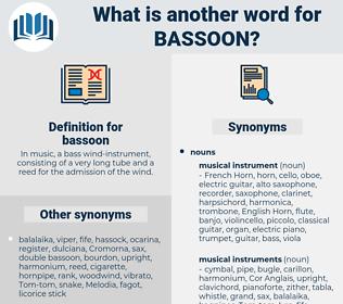 bassoon, synonym bassoon, another word for bassoon, words like bassoon, thesaurus bassoon