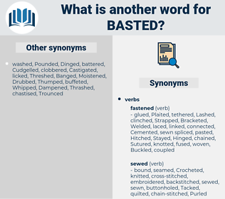 Basted, synonym Basted, another word for Basted, words like Basted, thesaurus Basted