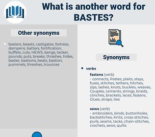 bastes, synonym bastes, another word for bastes, words like bastes, thesaurus bastes