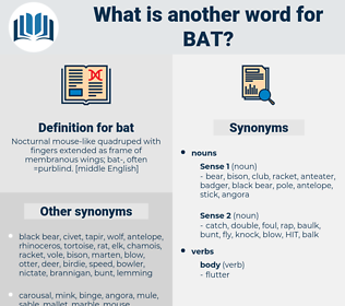 bat, synonym bat, another word for bat, words like bat, thesaurus bat