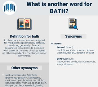 bath, synonym bath, another word for bath, words like bath, thesaurus bath