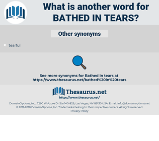bathed in tears, synonym bathed in tears, another word for bathed in tears, words like bathed in tears, thesaurus bathed in tears