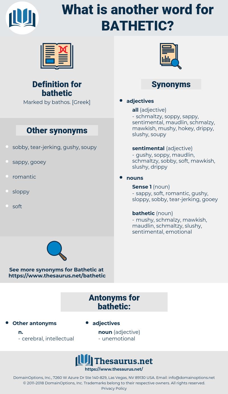 bathetic, synonym bathetic, another word for bathetic, words like bathetic, thesaurus bathetic