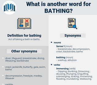 bathing, synonym bathing, another word for bathing, words like bathing, thesaurus bathing