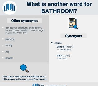 bathroom, synonym bathroom, another word for bathroom, words like bathroom, thesaurus bathroom