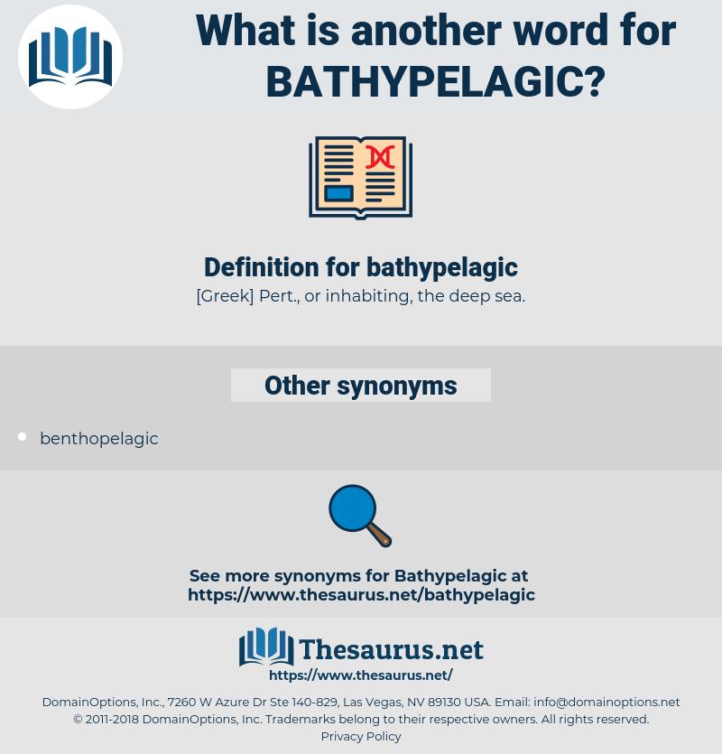 bathypelagic, synonym bathypelagic, another word for bathypelagic, words like bathypelagic, thesaurus bathypelagic