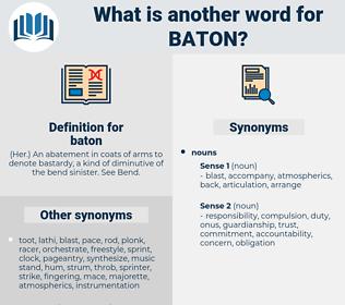 baton, synonym baton, another word for baton, words like baton, thesaurus baton