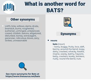 bats, synonym bats, another word for bats, words like bats, thesaurus bats