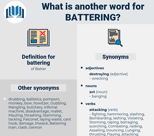 battering, synonym battering, another word for battering, words like battering, thesaurus battering