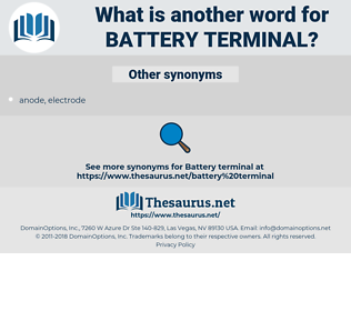 Synonyms for BATTERY TERMINAL - Thesaurus net