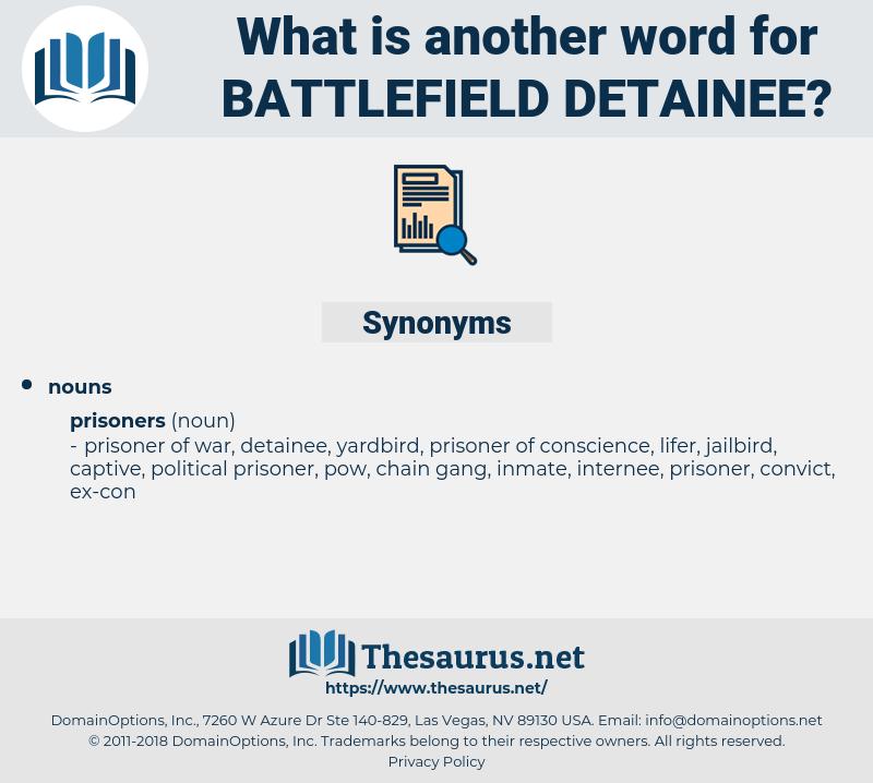 battlefield detainee, synonym battlefield detainee, another word for battlefield detainee, words like battlefield detainee, thesaurus battlefield detainee