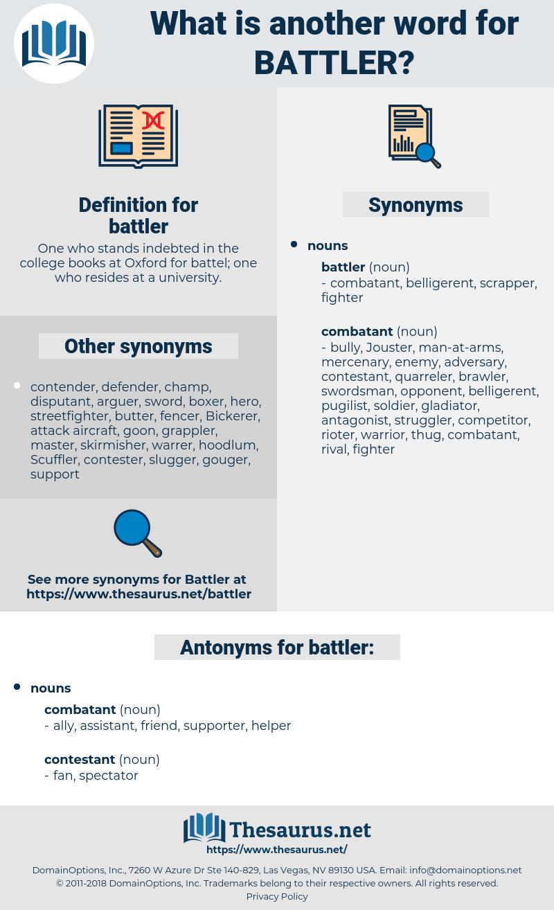 battler, synonym battler, another word for battler, words like battler, thesaurus battler