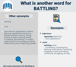 Battling, synonym Battling, another word for Battling, words like Battling, thesaurus Battling