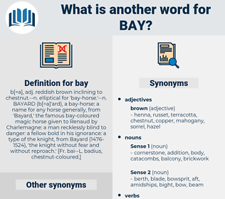 bay, synonym bay, another word for bay, words like bay, thesaurus bay