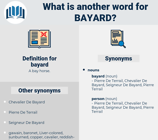 bayard, synonym bayard, another word for bayard, words like bayard, thesaurus bayard